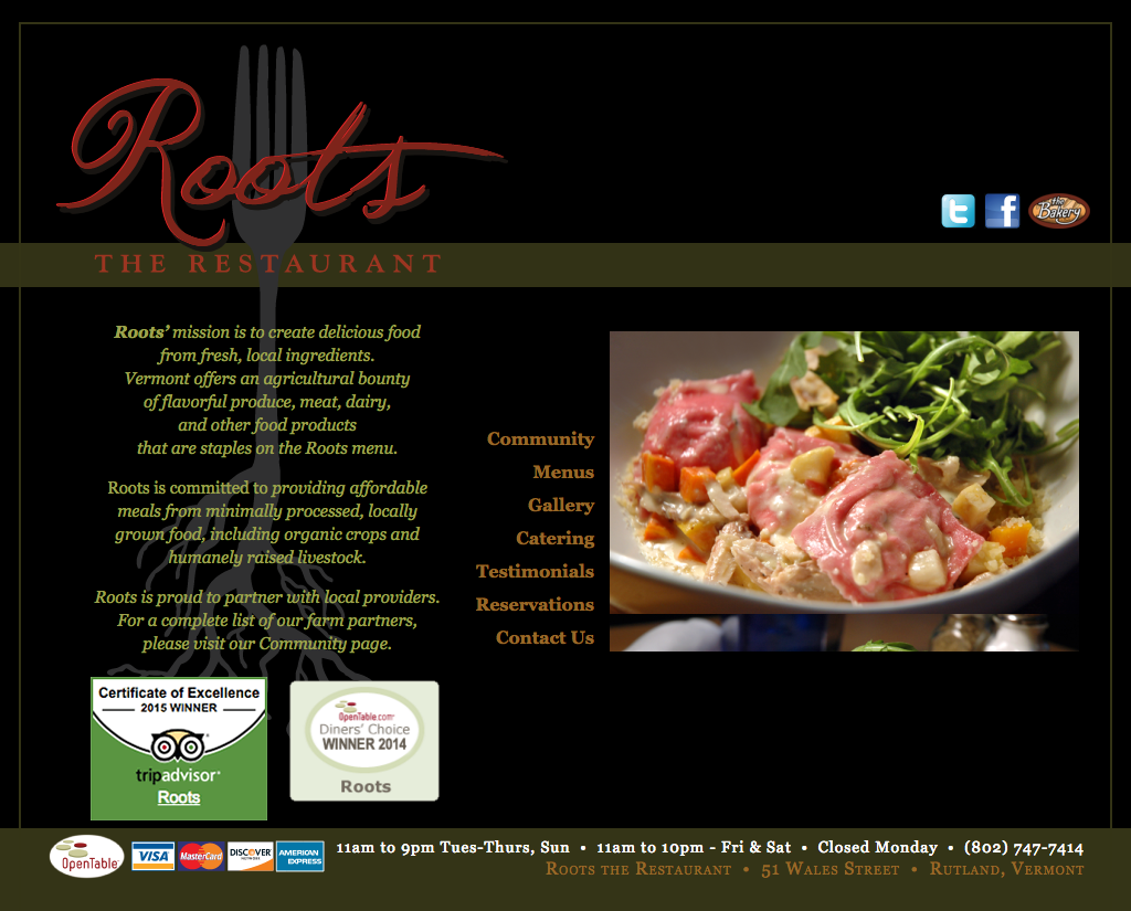 "<a href=""http://rootsrutland.com"" target=""_blank"">Roots the Restaurant</a>"