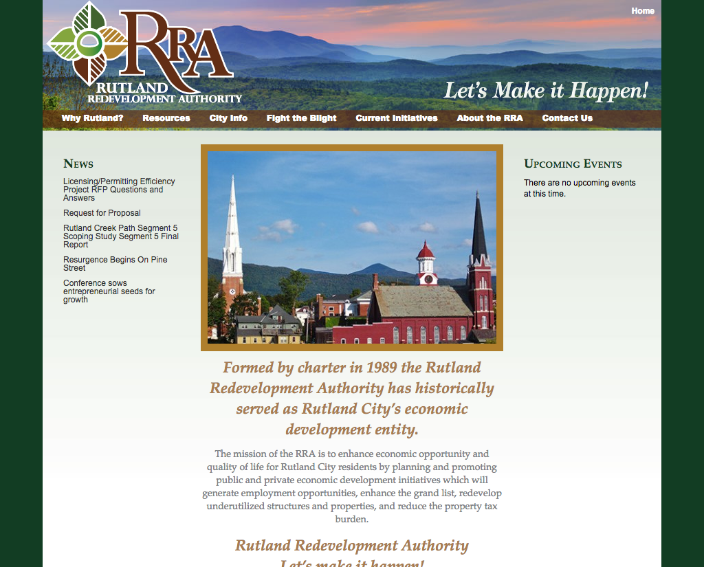 "<a href=""http://rutlandvtbusiness.com"" target=""_blank"">Rutland Redevelopment Authority</a>"