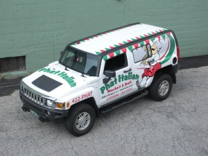 Hummer wrap for Phat Italian