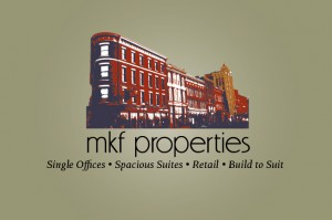 MKF Properties logo design by Green Screen Graphics