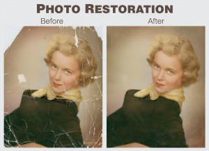 Scanned old photo restoration with Adobe Photoshop