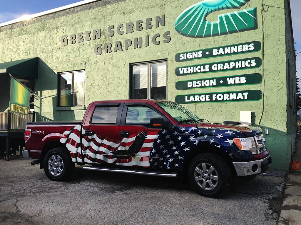 Design and Installation - American Flag Graphic