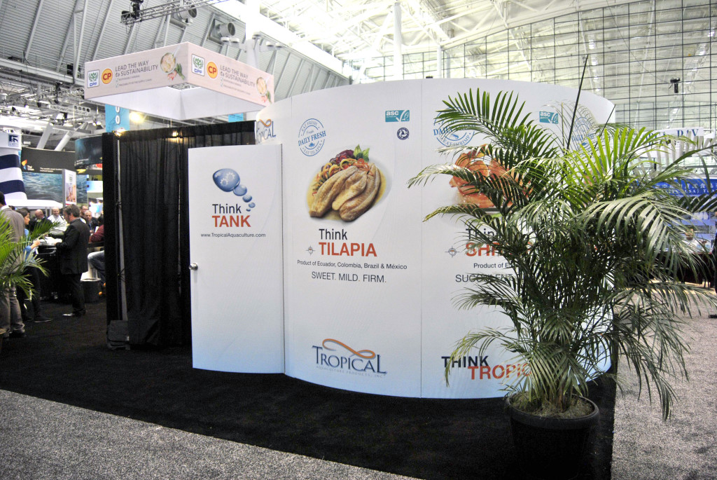 Tropical Aquaculture Trade Show in Boston (Production and Installation on site)