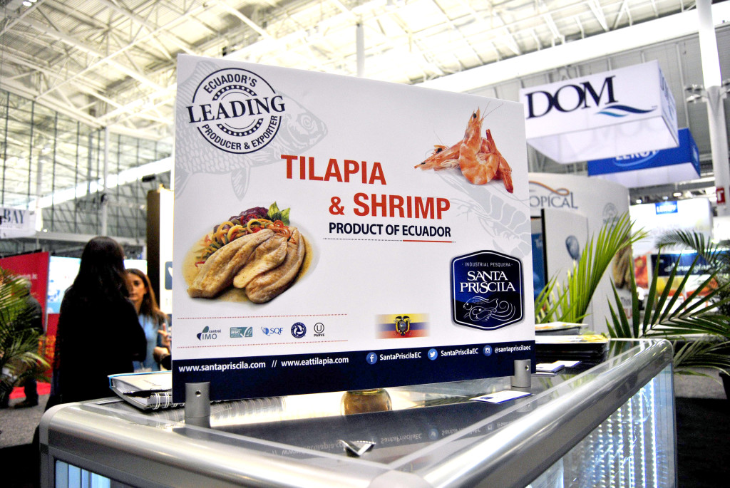 Tropical Aquaculture Trade Show in Boston (Production and Installation on site) Photo courtesy of Tropical Aquaculture